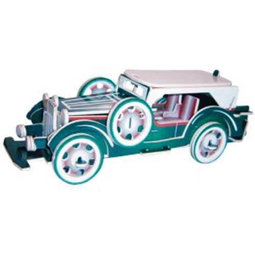 Dřevěné 3D puzzle dřevěná skládačka auta Ford model V8 PC014