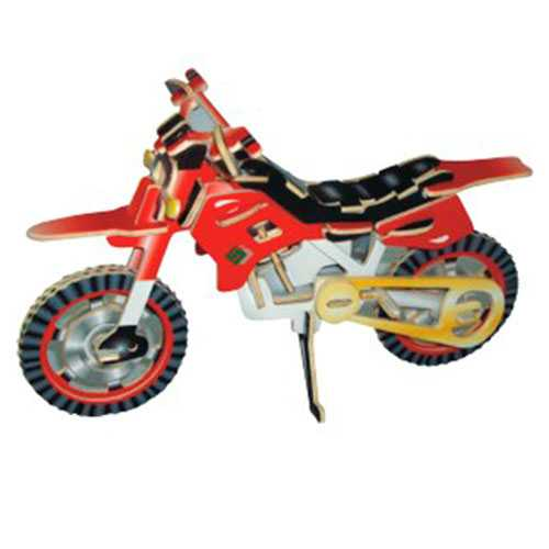 Woodcraft Dřevěné 3D puzzle terénní motorka
