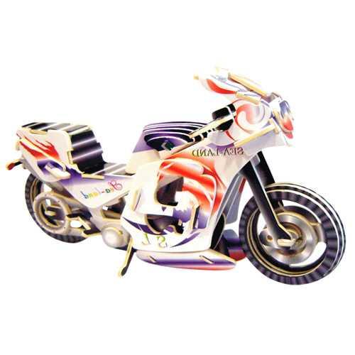 Dřevěné 3D puzzle dřevěná skládačka - Závodní motorka PC023