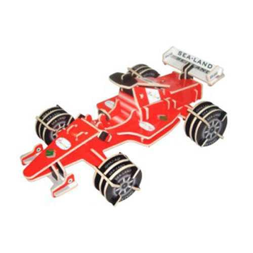 Dřevěné 3D puzzle dřevěná skládačka auta - Formule PC081