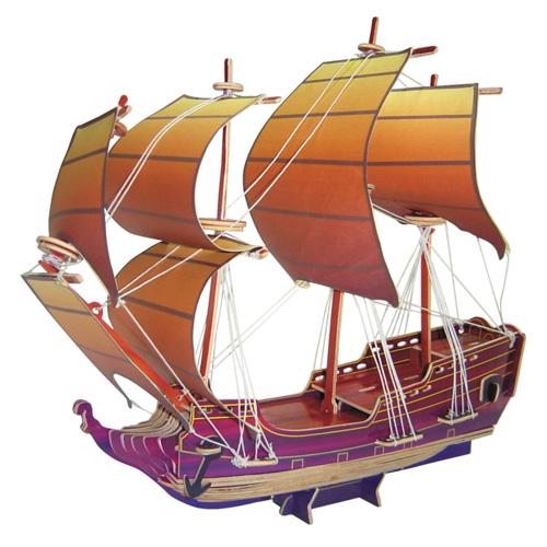 Dřevěné 3D puzzle dřevěná skládačka - Plachetnice Orel PC128