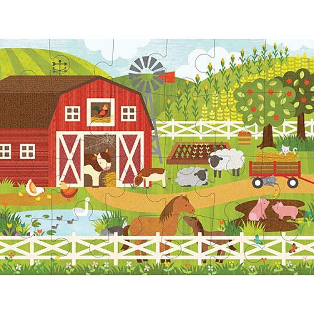 Petitcollage Podlahové puzzle na farmě