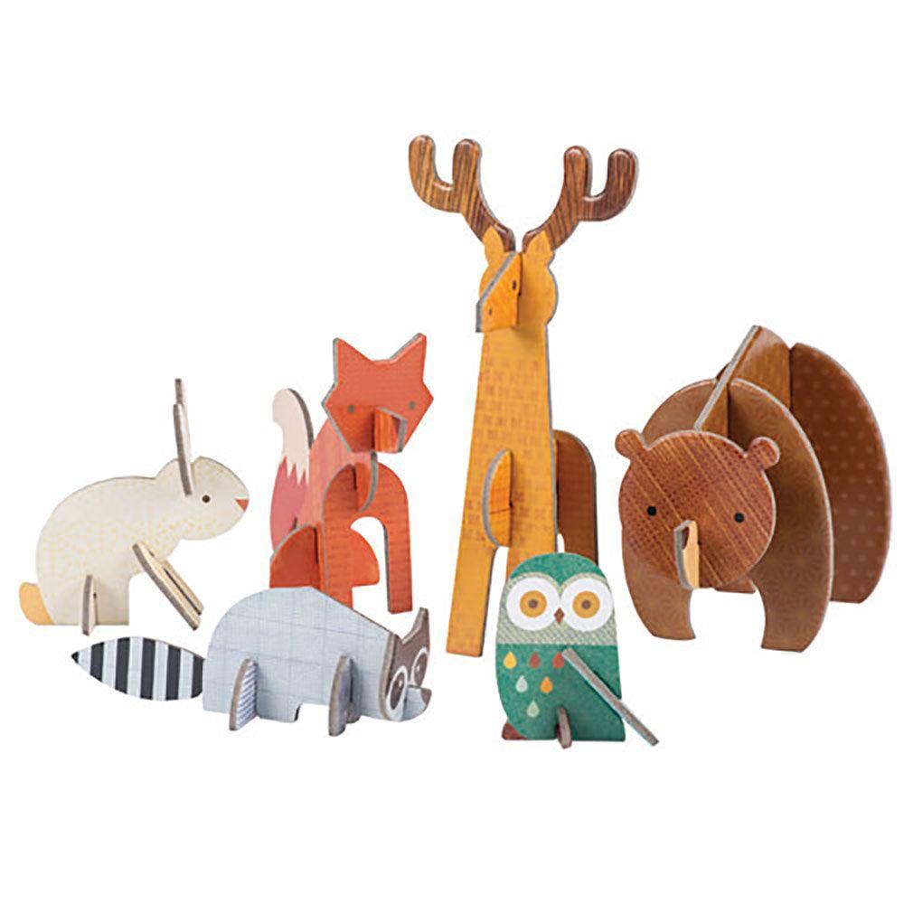 Petitcollage 3D puzzle Lesní zvířátka