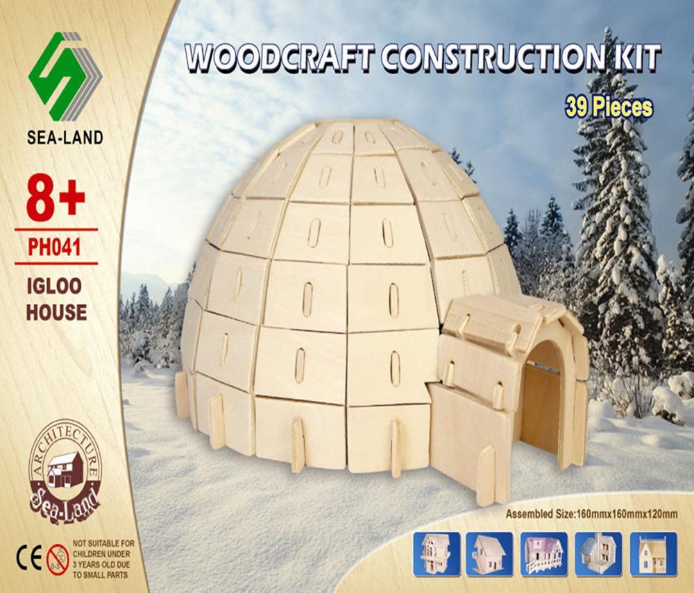 Woodcraft Dřevěné 3D puzzle Iglů