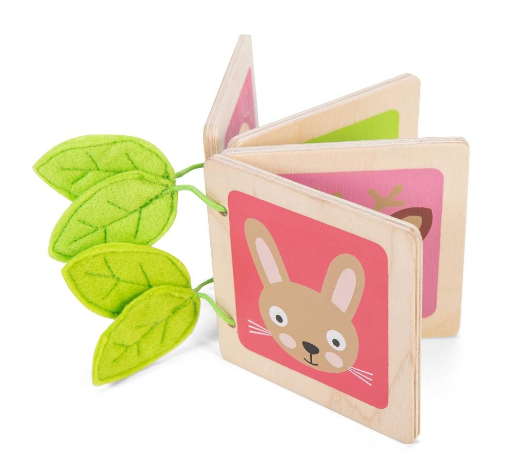 Le Toy Van Petilou dřevěná knížka se zvířátky