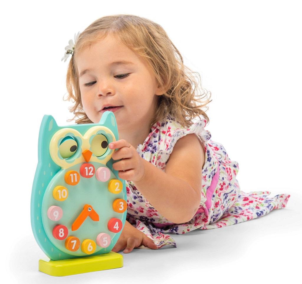 Le Toy Van Petilou hodiny sovička