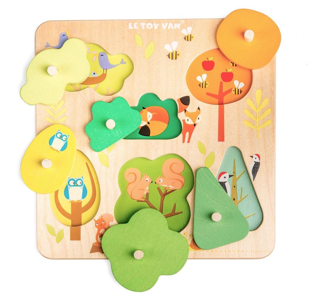 Le Toy Van Petilou Vkládací puzzle kouzelný les