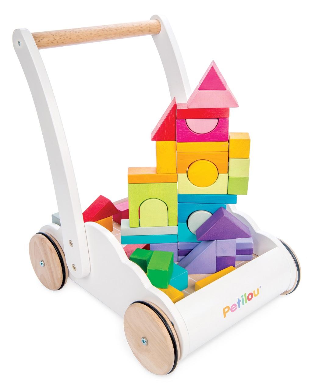 Le Toy Van Petilou Vozík s duhovými kostkami