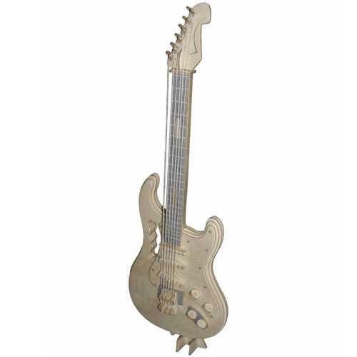 Woodcraft Dřevěné 3D puzzle elektrická kytara