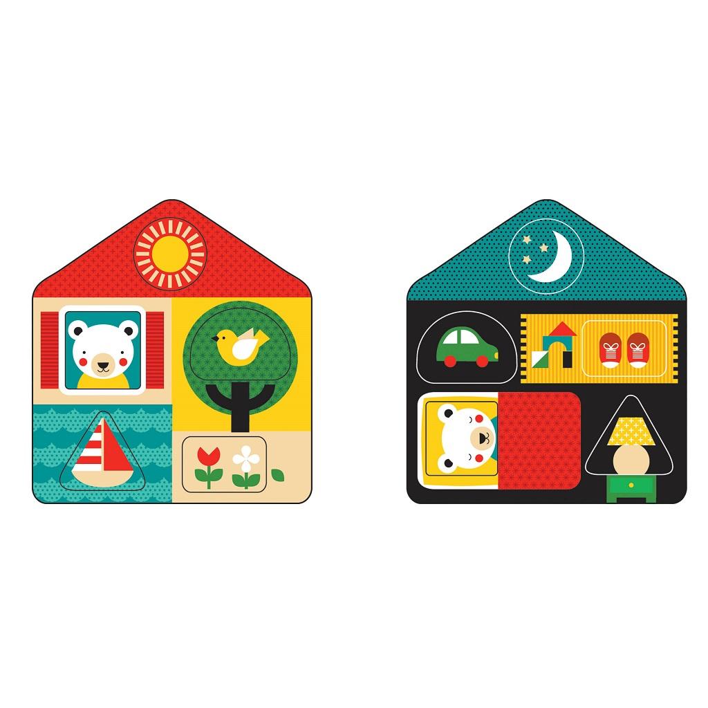 Petitcollage Vkládací puzzle 2v1 den a noc