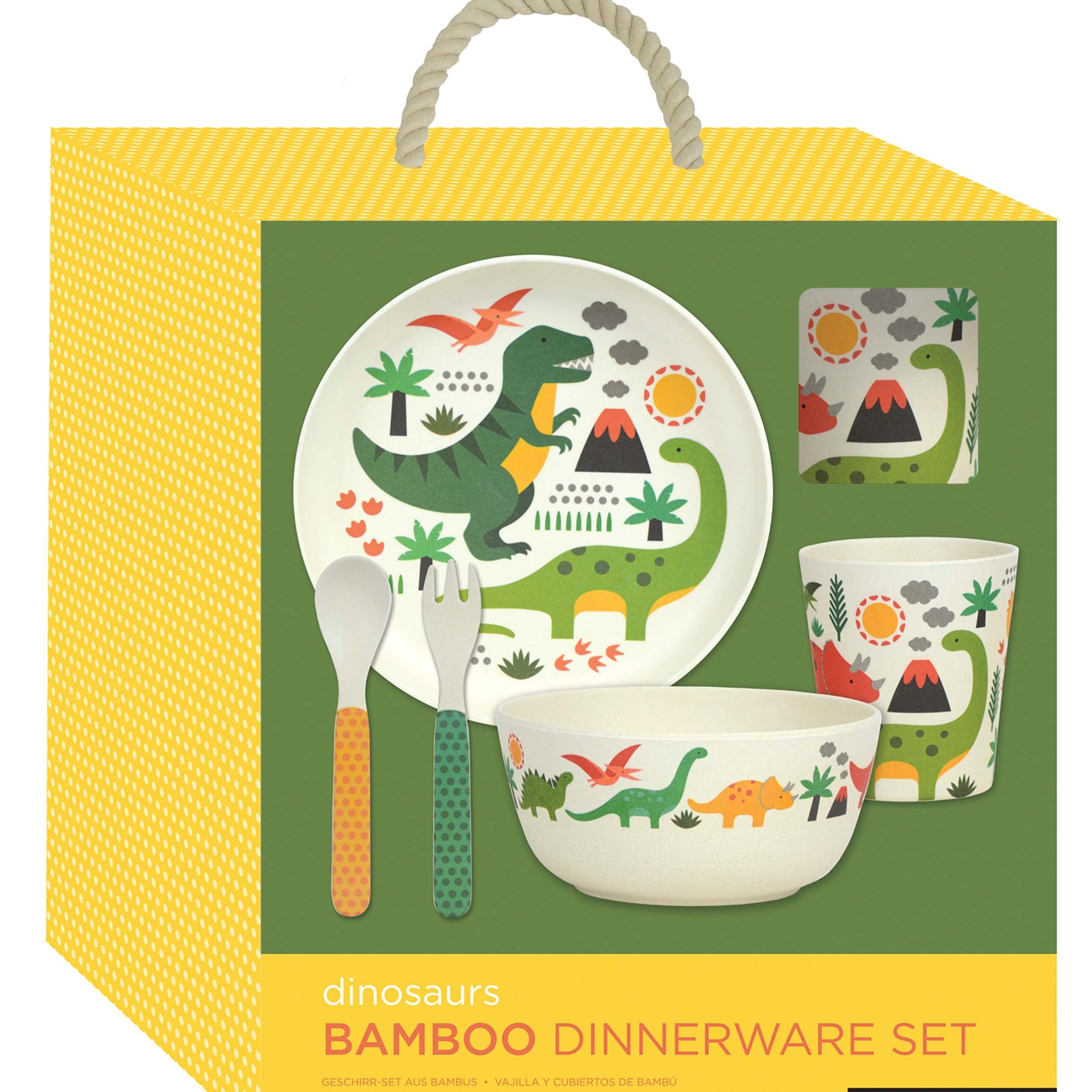 Petitcollage Bambusová jídelní sada dinosauři