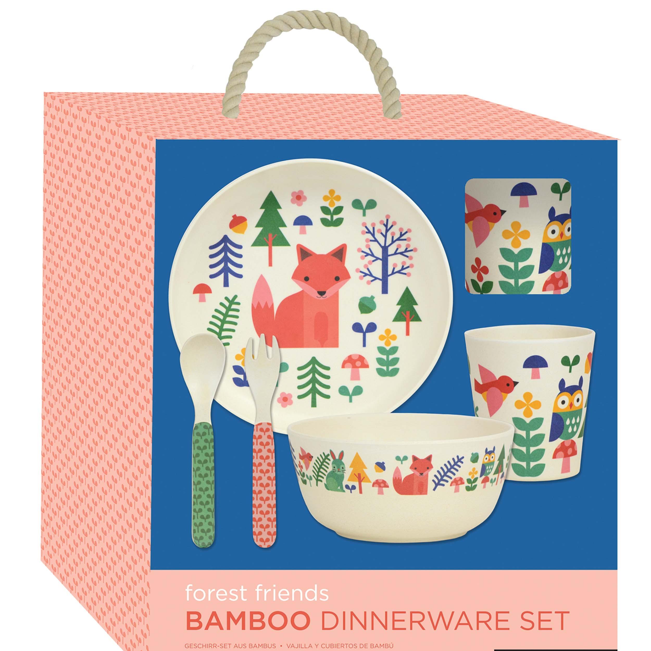 Petitcollage Bambusová jídelní sada liška