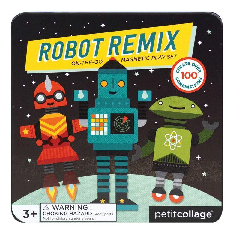 Petitcollage Magnetická knížka Roboti - poškozená kovová krabička