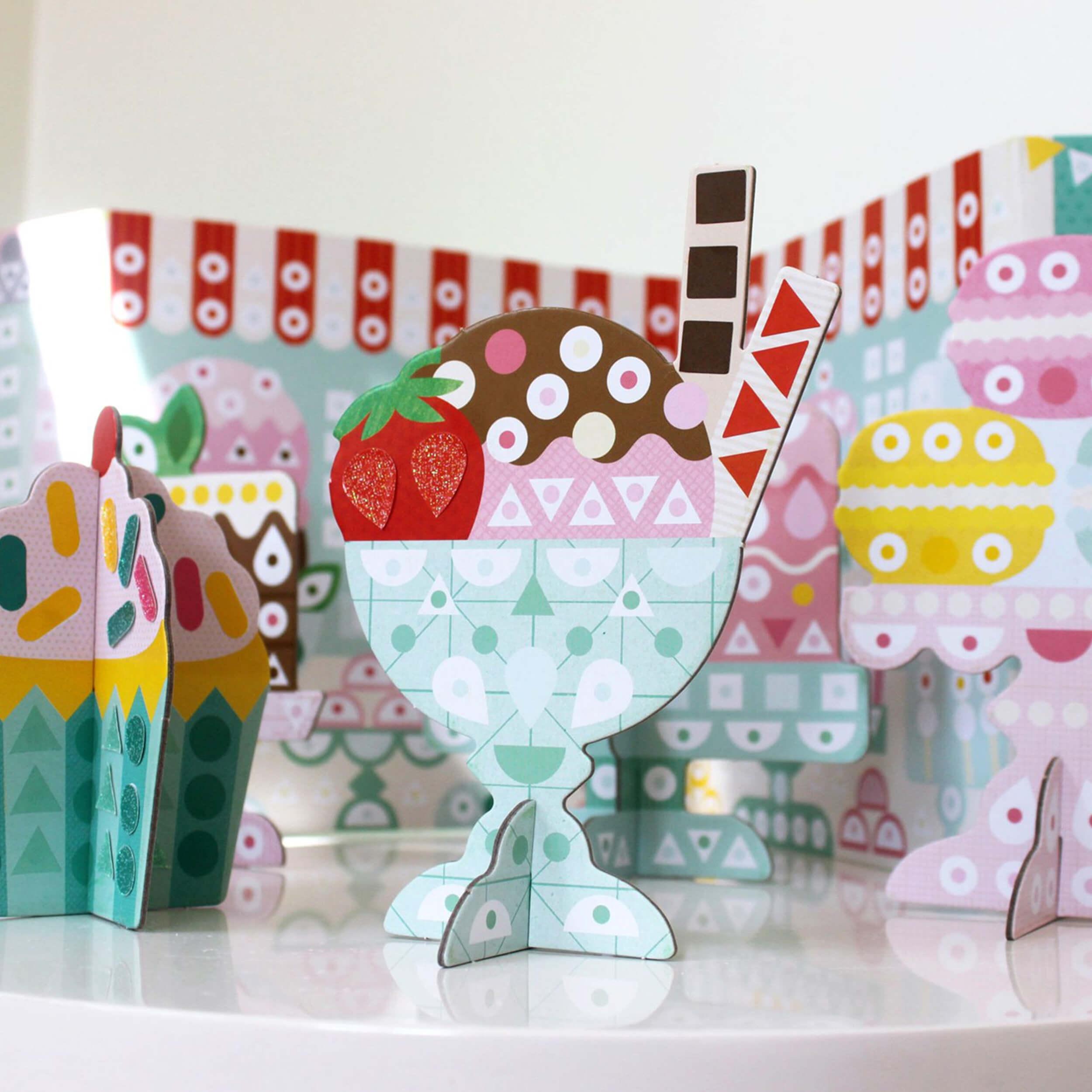 Petitcollage Kreativní samolepky v boxu cukrárna