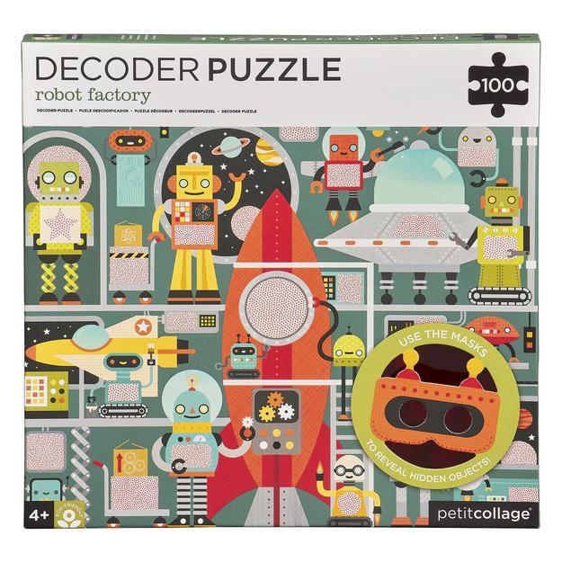 Petitcollage Puzzle roboti 100 ks s 3D brýlemi