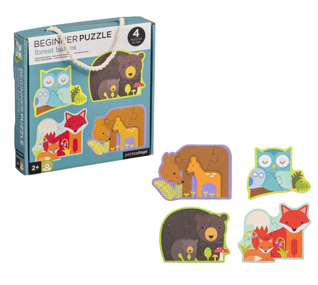 Petitcollage První puzzle lesní zvířátka - poškozený obal