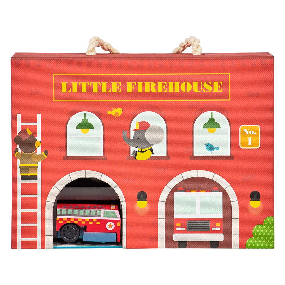 Petitcollage Hrací sada hasičská stanice
