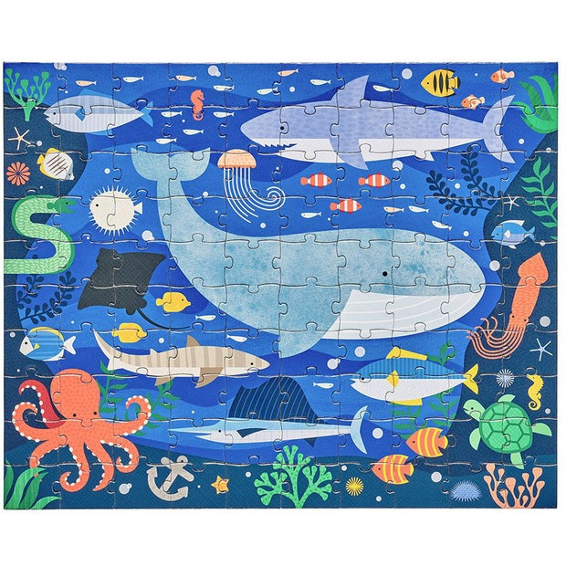 Petitcollage Oboustranné puzzle pod mořem