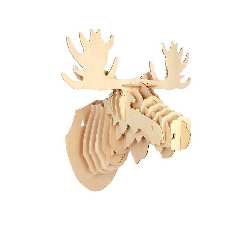 Woodcraft Dřevěné 3D puzzle hlava soba