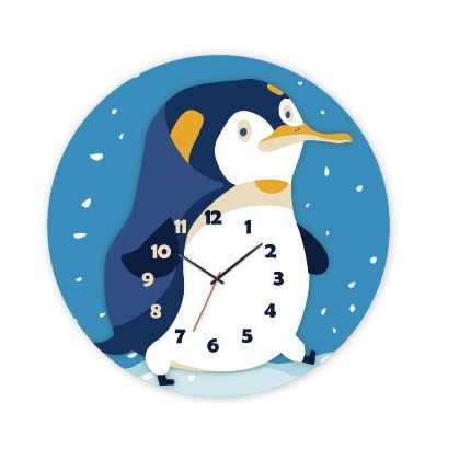 RoboTime 3D puzzle hodiny se strojkem tučňák