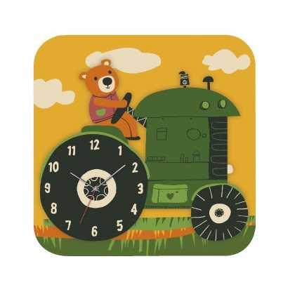 RoboTime 3D puzzle hodiny se strojkem traktor