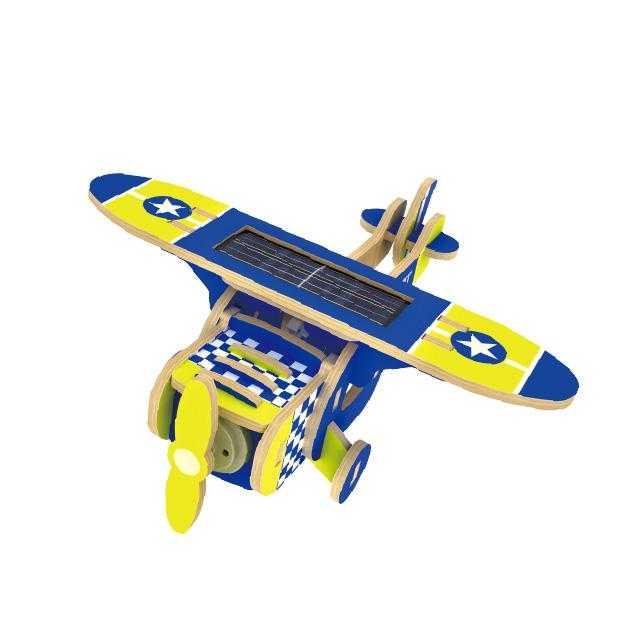 RoboTime Solární letadlo jednoplošník barevný