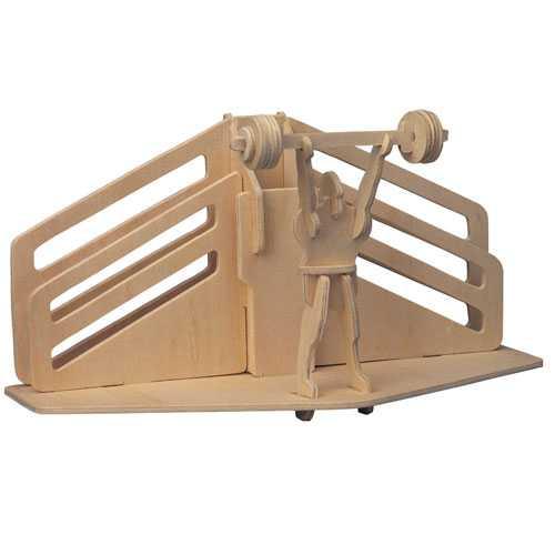 Woodcraft Dřevěné 3D puzzle stojánek na tužky vzpírání