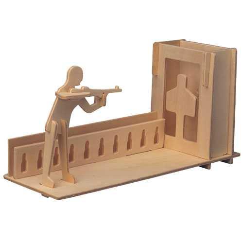 Woodcraft Dřevěné 3D puzzle stojánek na tužky střelba
