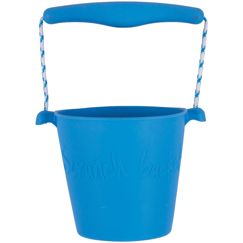 Scrunch silikonový kbelíček modrý
