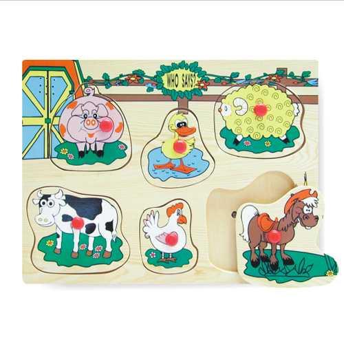 Vkládací puzzle ozvučené domácí zvířata