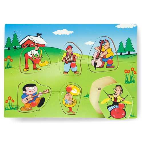 Vkládací puzzle ozvučené hudební nástroje