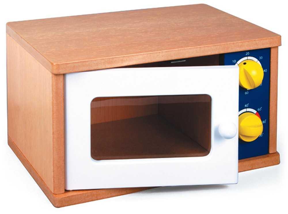 Dřevěné hračky - Dětská mikrovlnná trouba