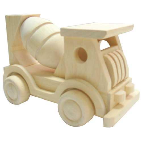 HJ Toys Dřevěné auto míchačka