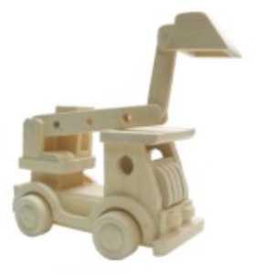 HJ Toys Dřevěné auto bagr
