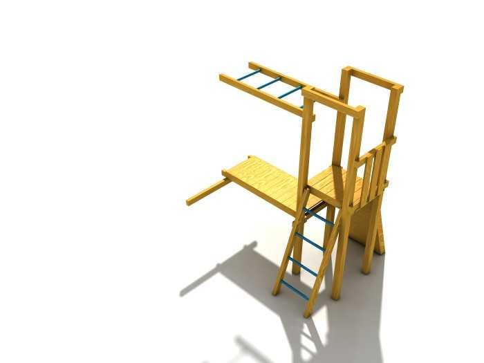 Dřevěné dětské hřiště - Stavebnice - Modul Šikula