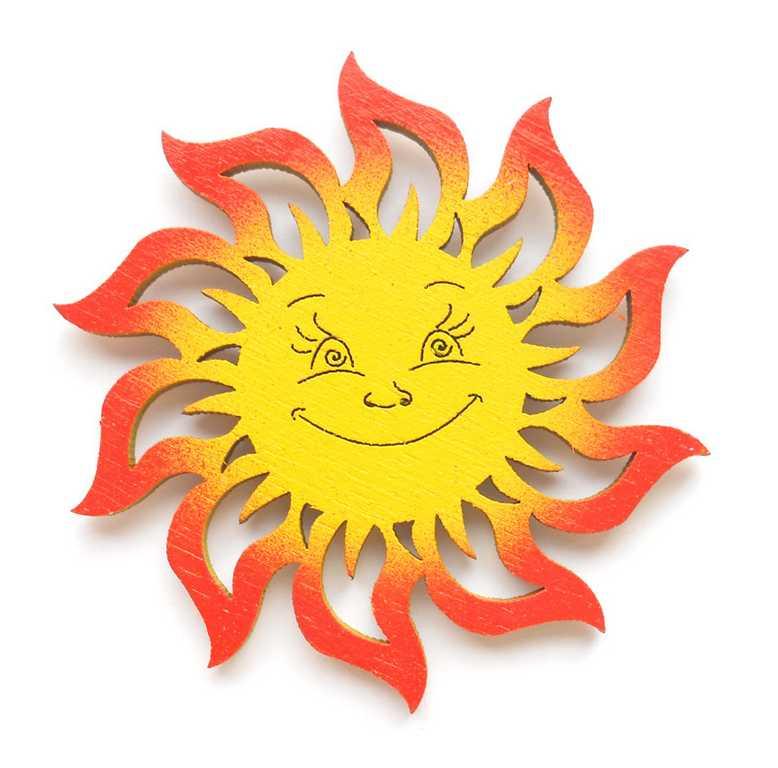 Dřevěné dekorace - dřevěné magnetky - magnetka Sluníčko
