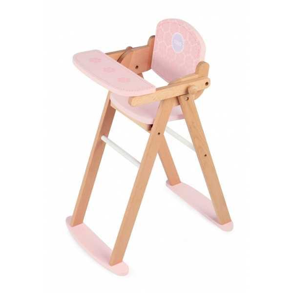 Fotografie Tidlo Dřevěná židlička na krmení panenek
