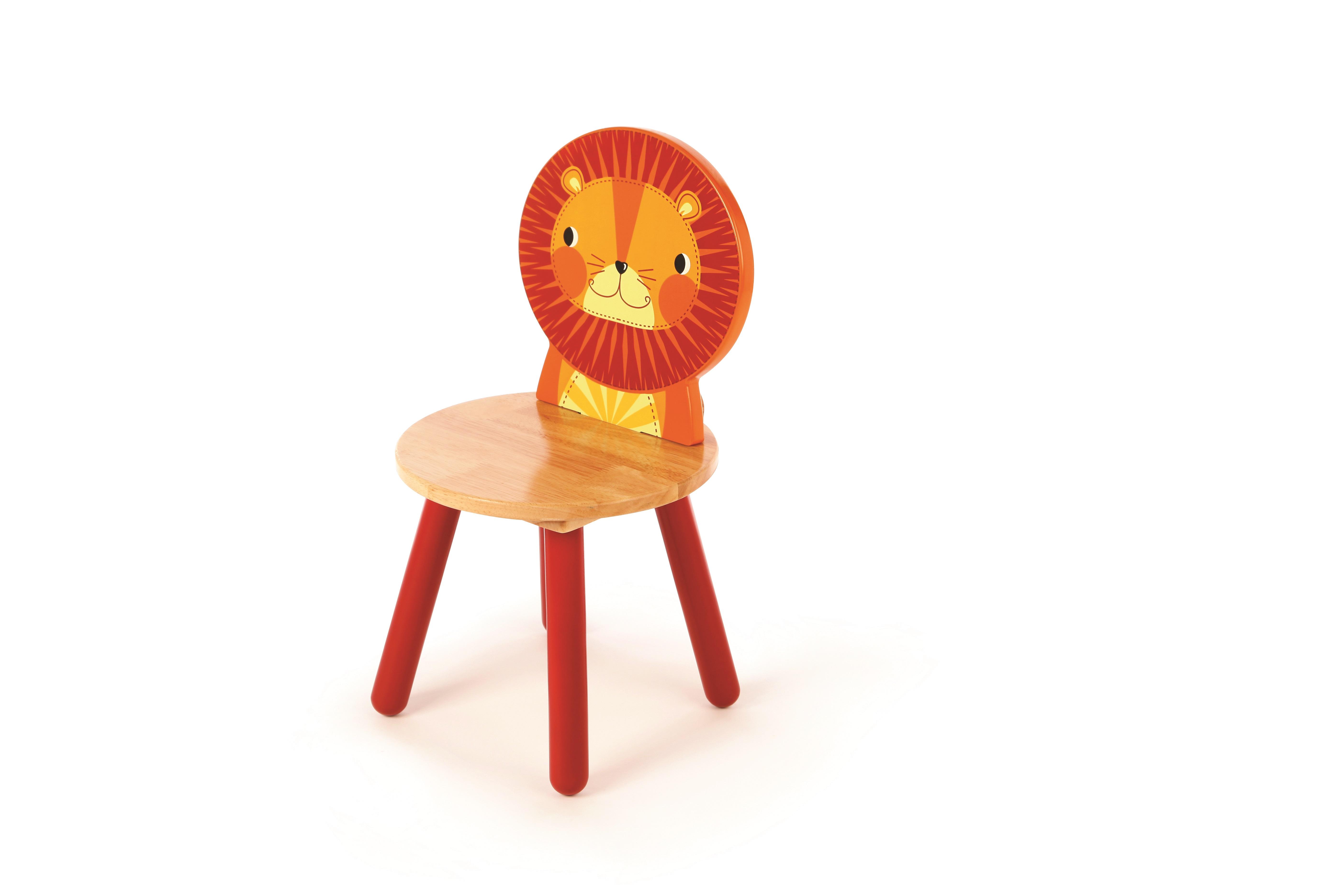 Tidlo Dřevěná židle Animal lev