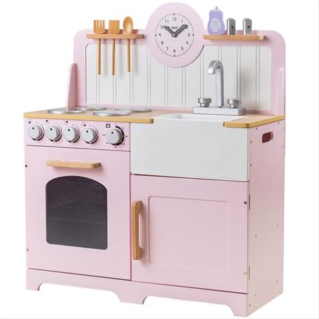 Tidlo Dřevěná kuchyňka Country růžová