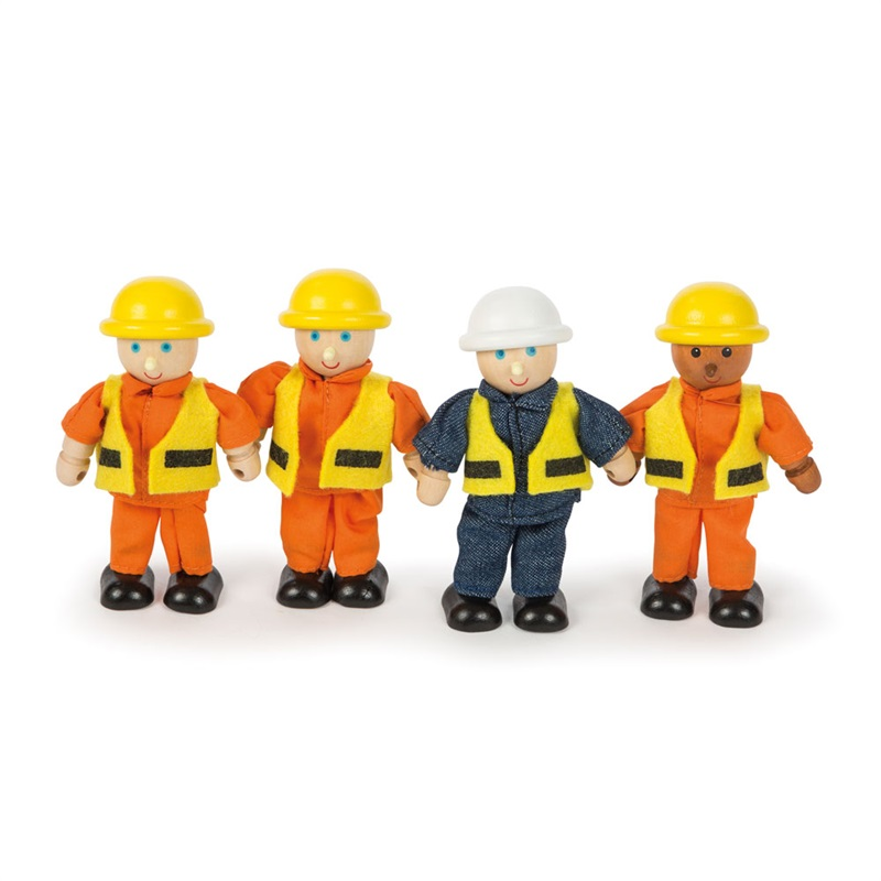 Tidlo Dřevěné postavičky stavitelé 4 ks