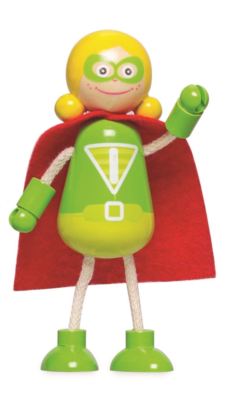 Tidlo Dřevěné postavičky Superhrdinové 5ks