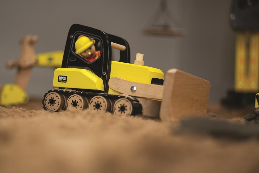 Tidlo Dřevěný buldozér