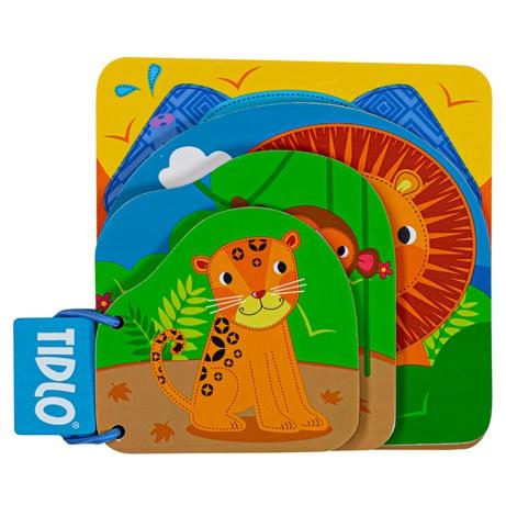 Tidlo Dřevěná knížka džungle