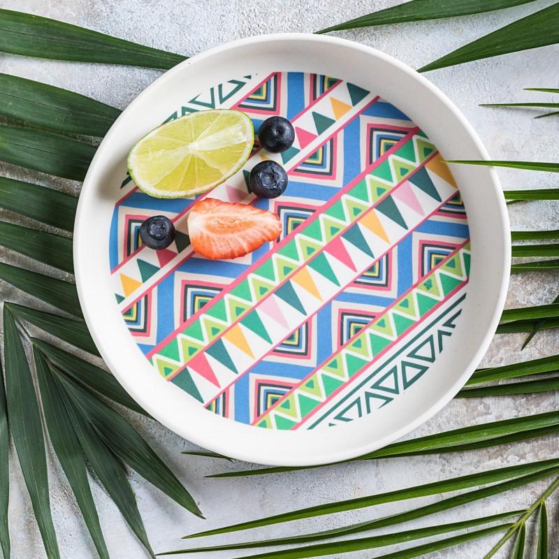 Tommy Lise Bambusový talíř Ethnic Festive 1 ks