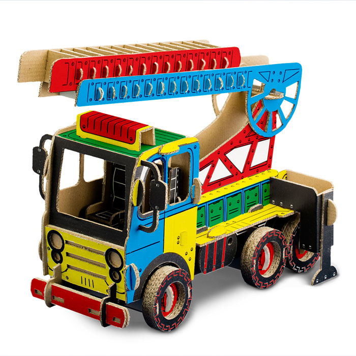 Kartonová 3D skládačka TO DO Hasičské auto s žebříkem
