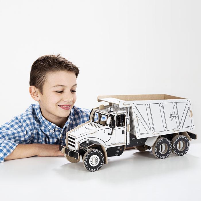 TO DO kartonová 3D skládačka Nákladní auto sklápěčka