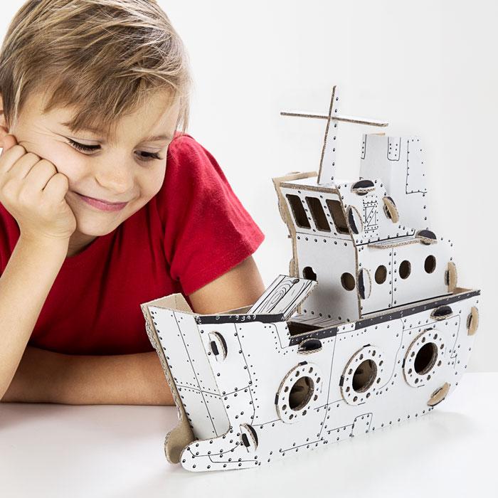 Kartonová 3D skládačka TO DO Loď
