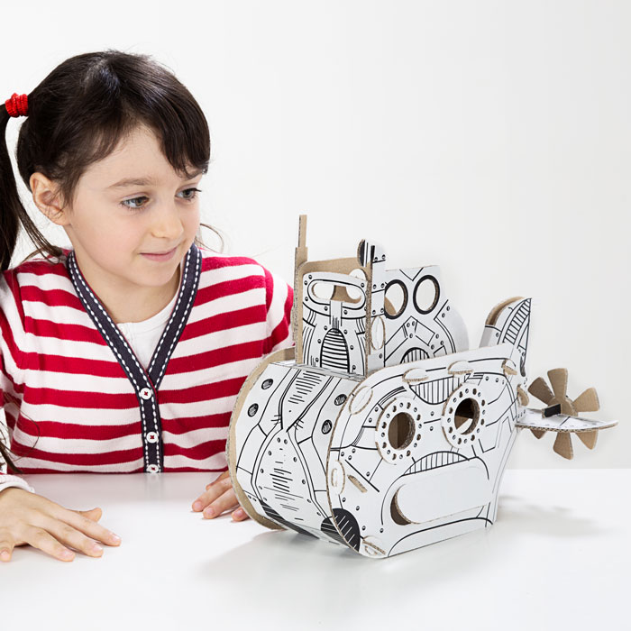 TO DO kartonová 3D skládačka Ponorka