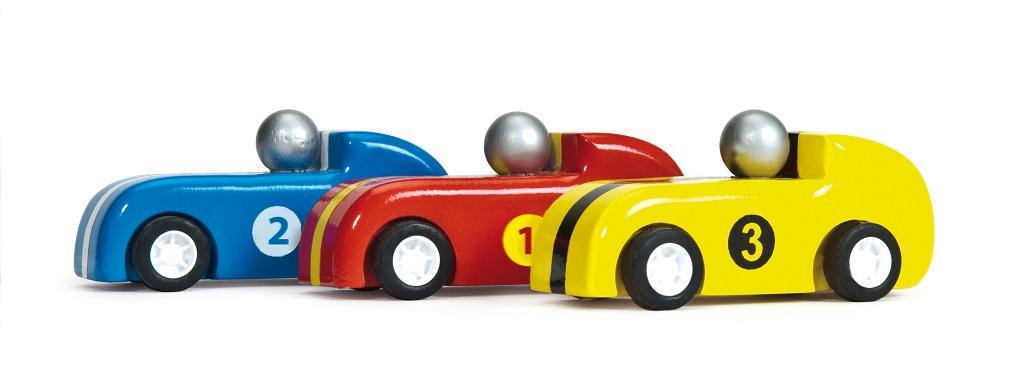 Le Toy Van Set závodních aut Pullback