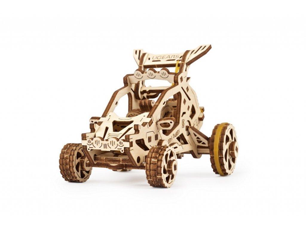 Ugears 3D dřevěné mechanické puzzle Mini bugina